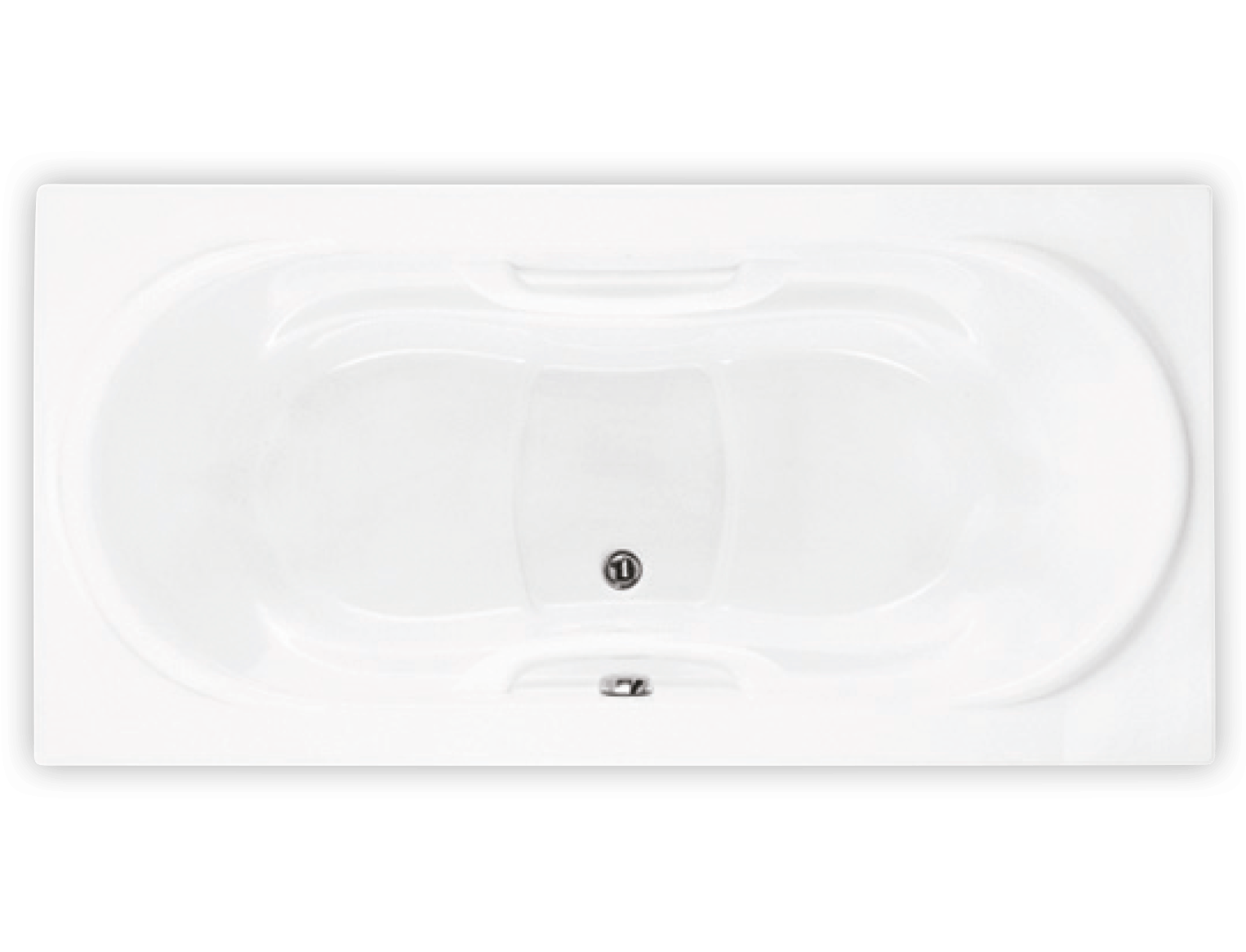 Bainultra Amma® 7242 alcove drop-in air jet bathtub for two