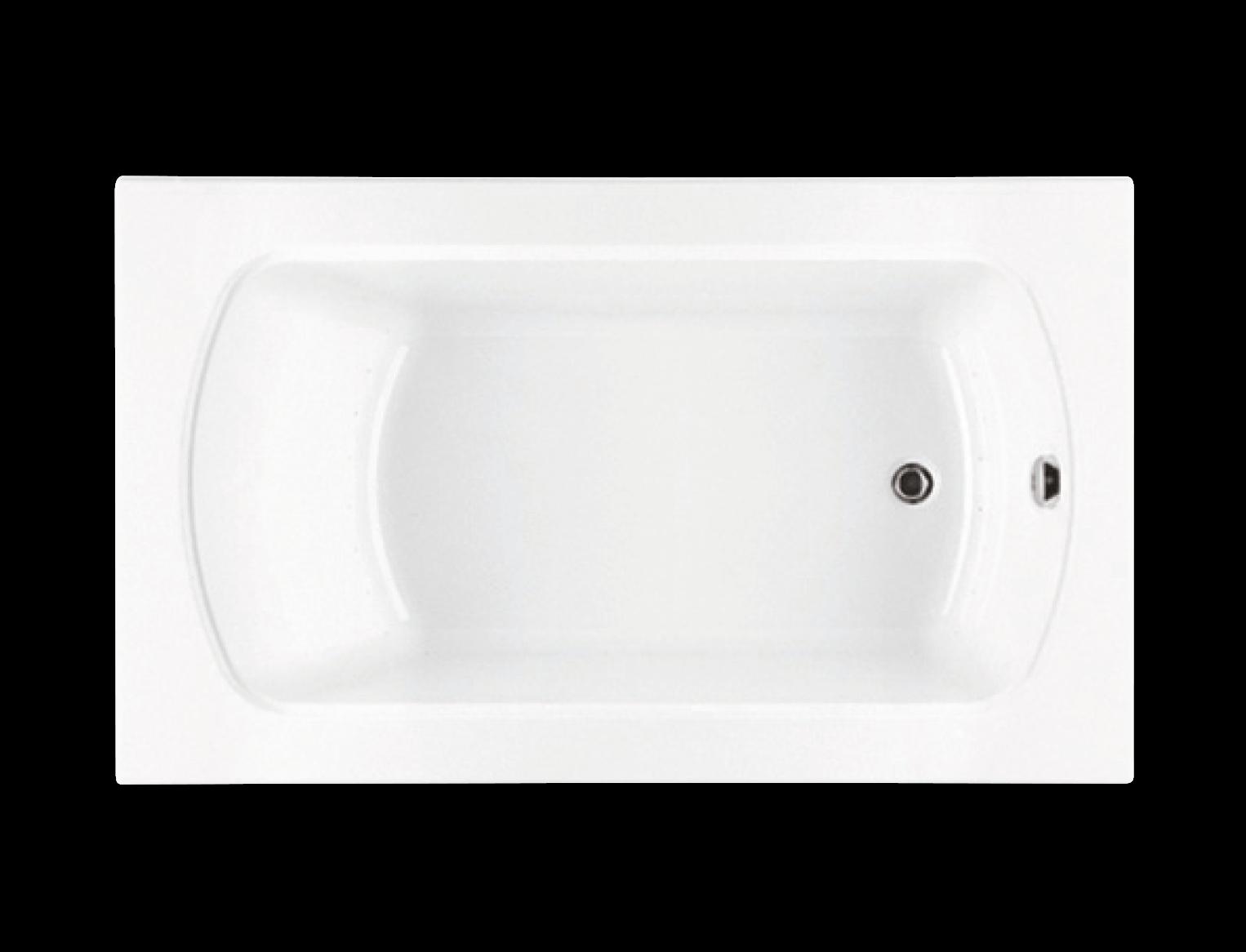 Bainultra Meridian® 6042 alcove drop-in air jet bathtub for your modern bathroom