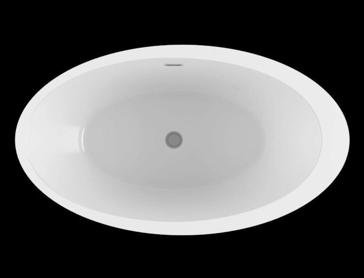 Opalia 6839 Off Centered Ellipse Left air jet bathtub for your modern bathroom