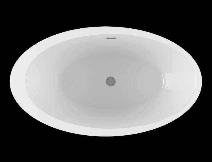 OPALIA 6839 Off Centered Ellipse Right air jet bathtub for your modern bathroom