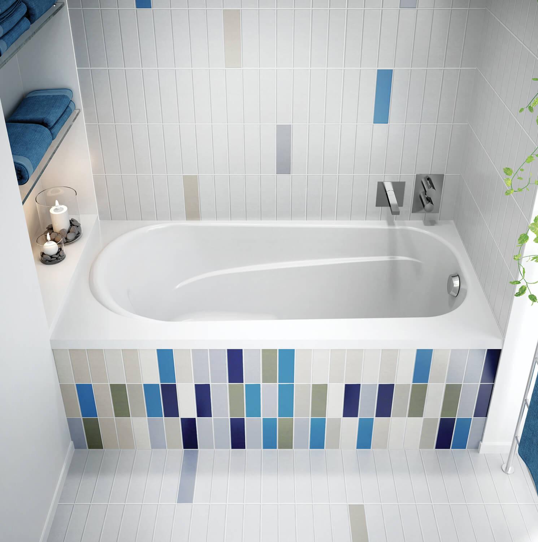 Bainultra Amma® 6032 alcove drop-in air jet bathtub for your modern bathroom