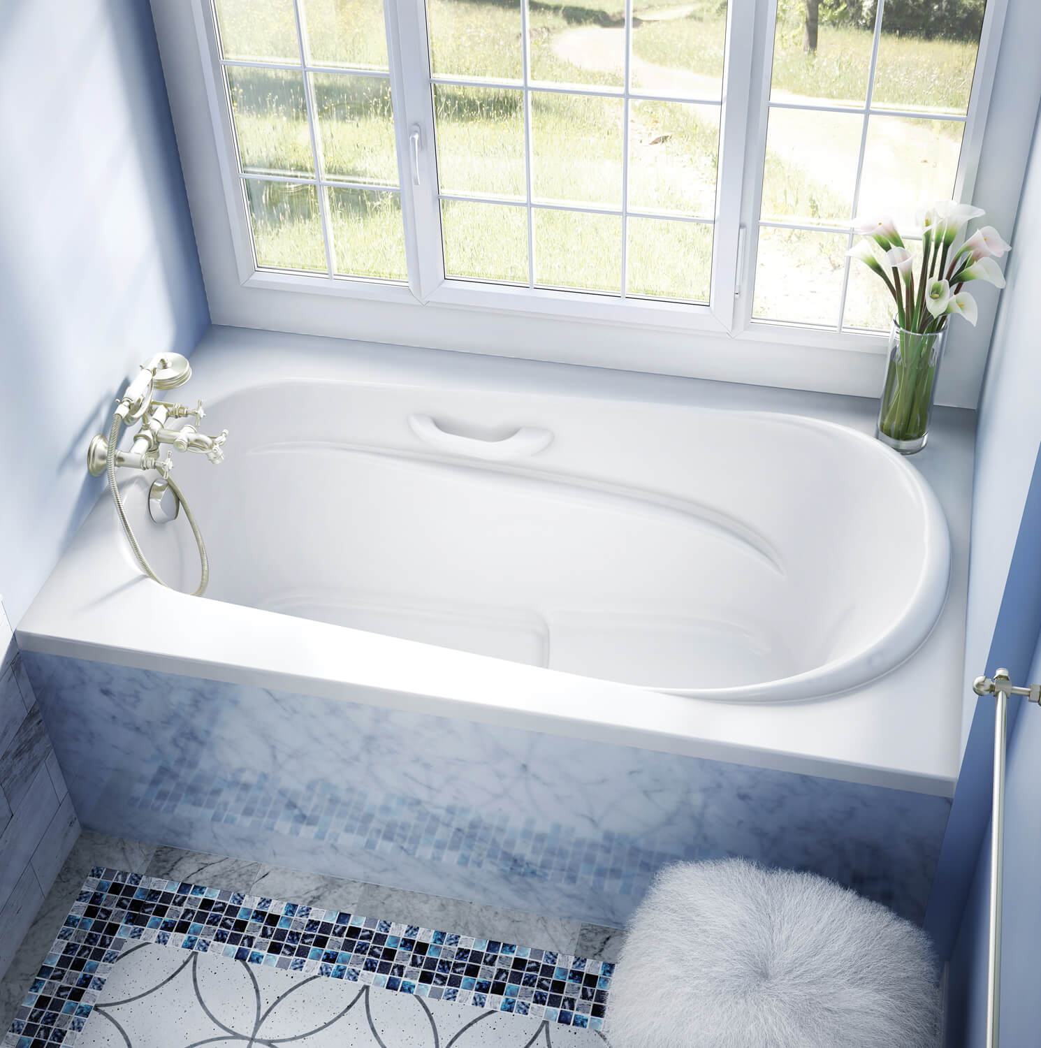 Alcove Drop In Air Jet Tub For Your Bathroom Bainultra