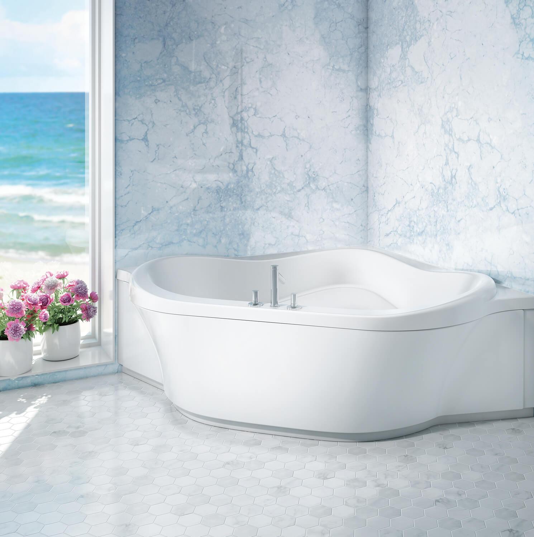 Bainultra Amma® 6060 corner drop-in air jet bathtub for your modern bathroom