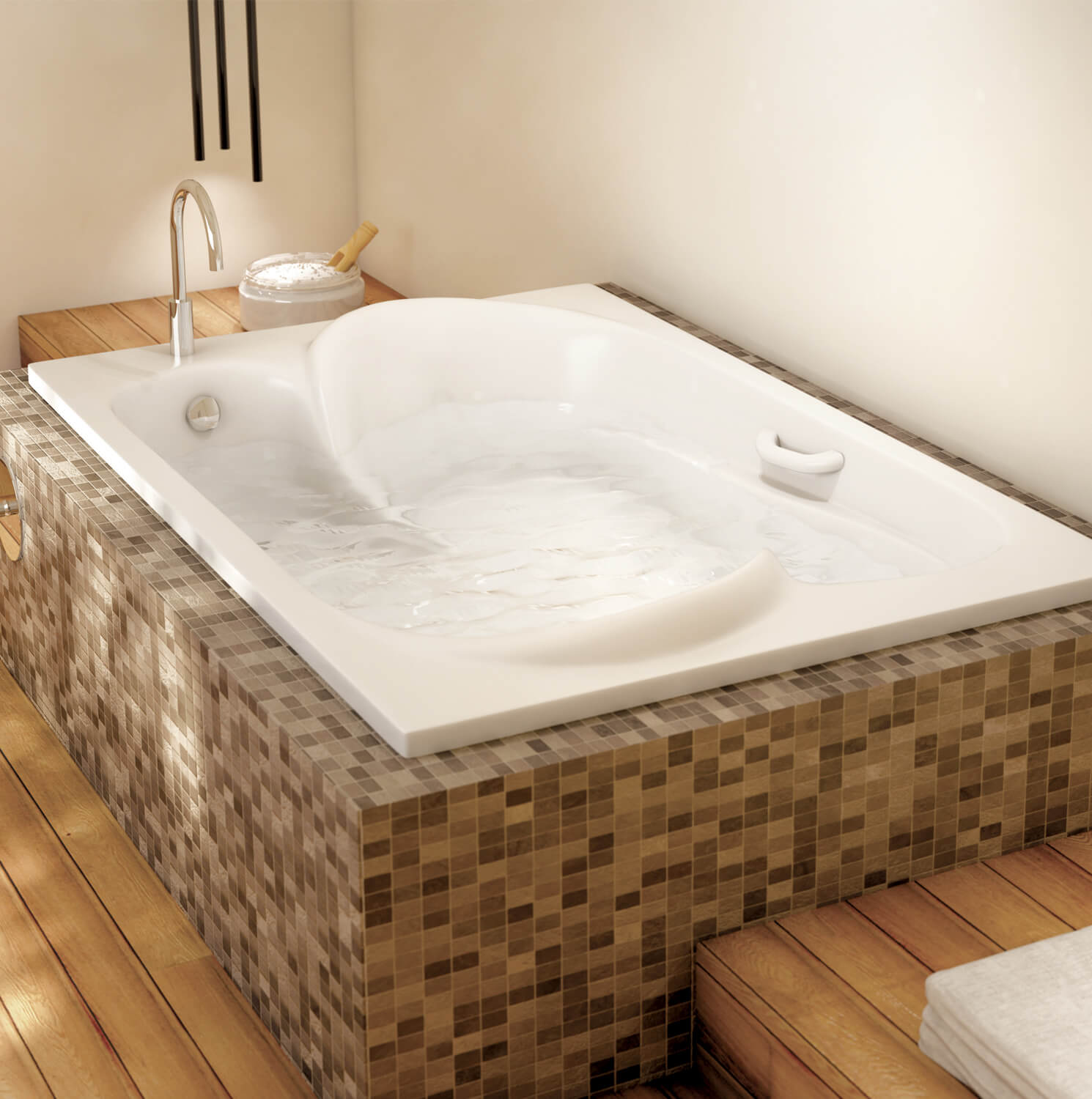 Drop-in air jet tub for your master bathroom | BainUltra Amma® 7048