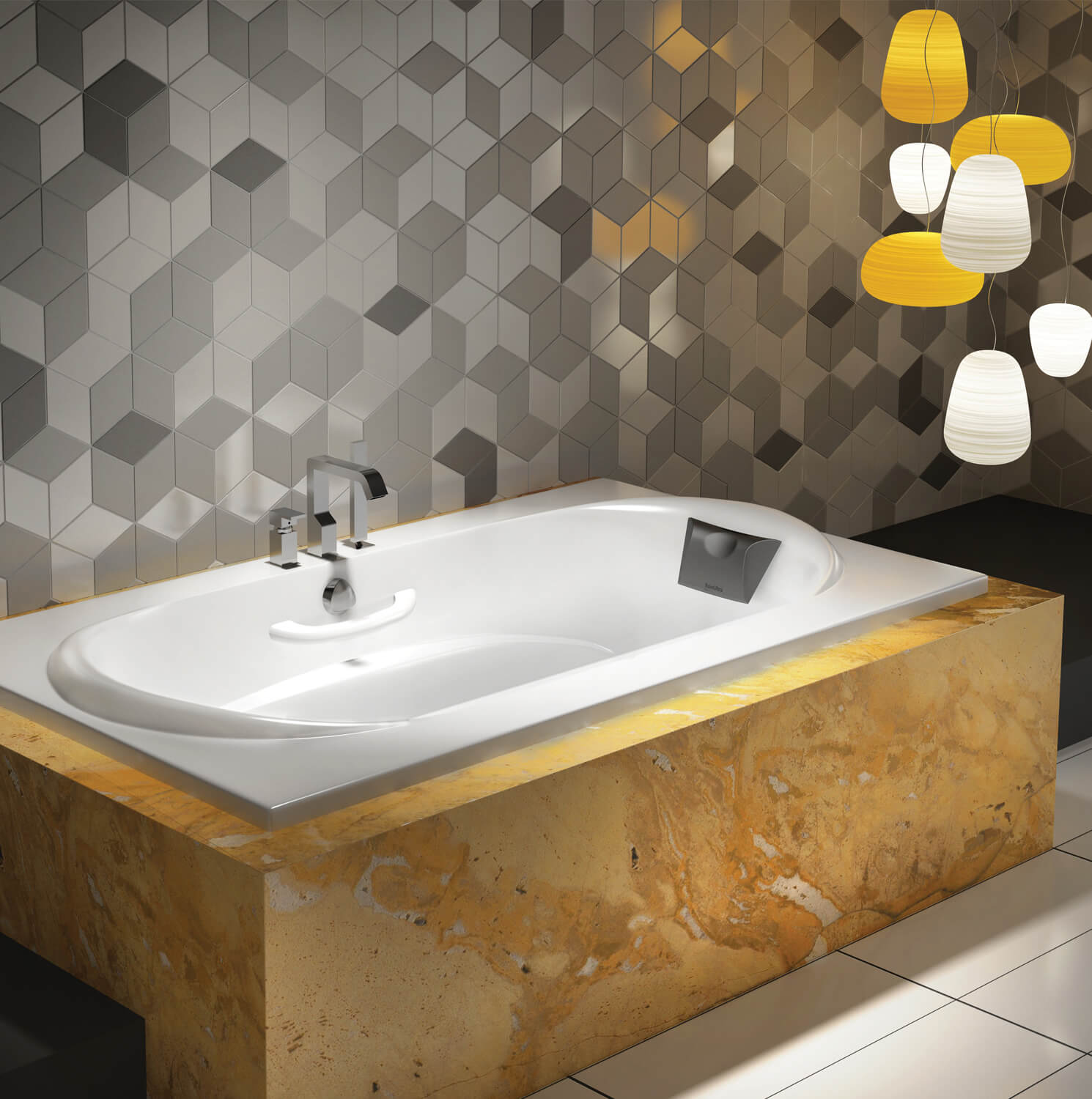 Alcove drop-in air jet tub for your bathroom | BainUltra Amma® 7236