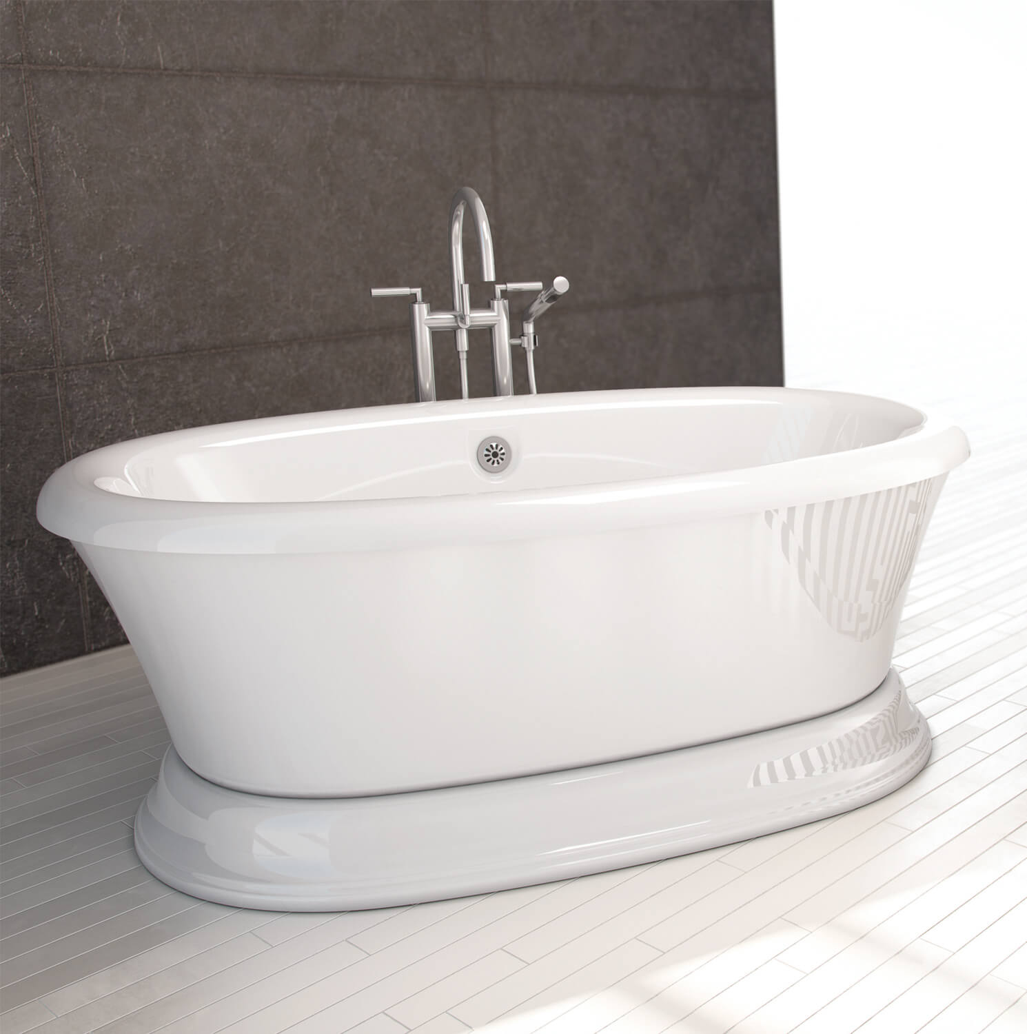 Two person pedestal air jet tub | BainUltra Naos 7240