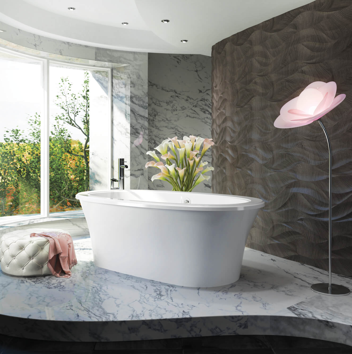 Freestanding air jet tub for your bathroom | BainUltra Sanos 6636