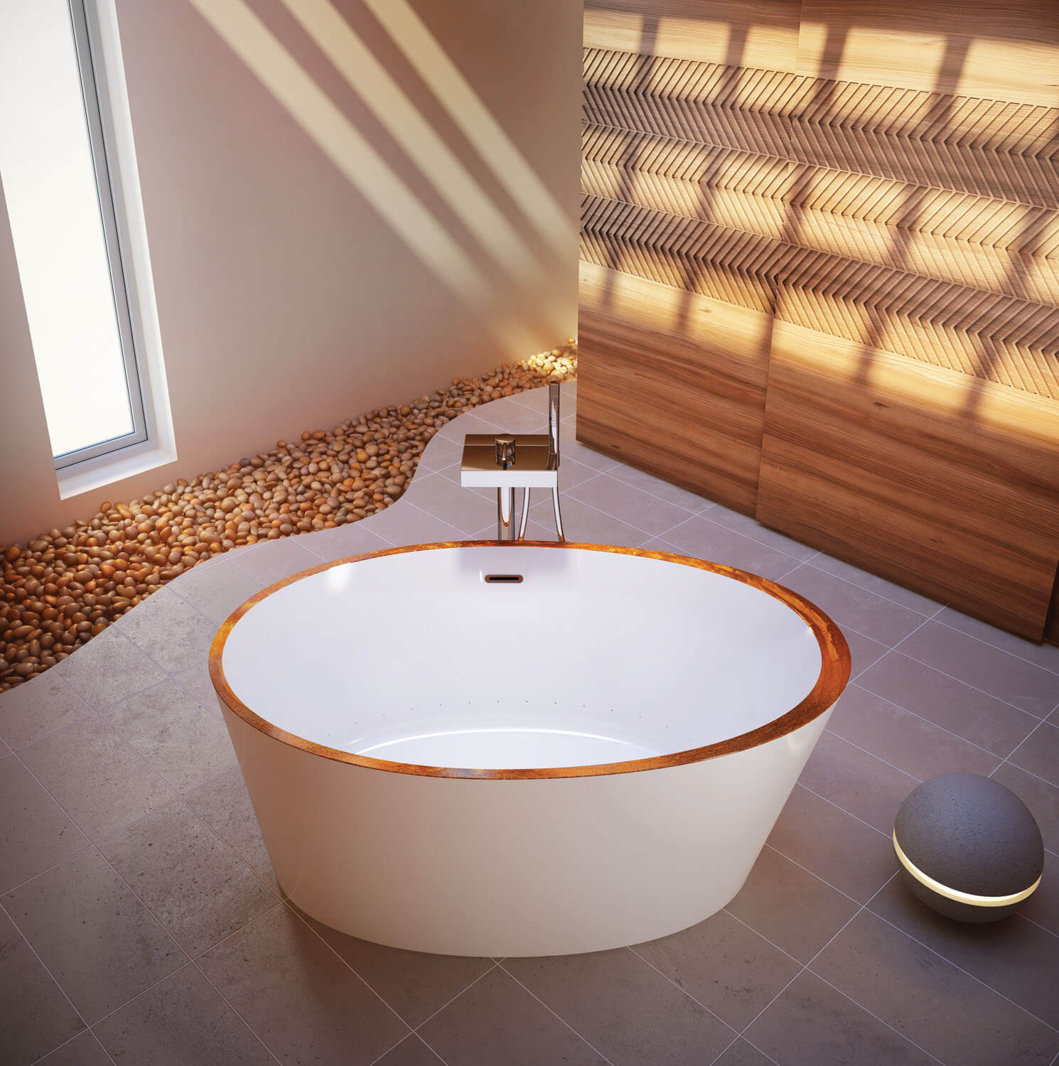 Bainultra Charism 5736 freestanding air jet bathtub for your modern bathroom