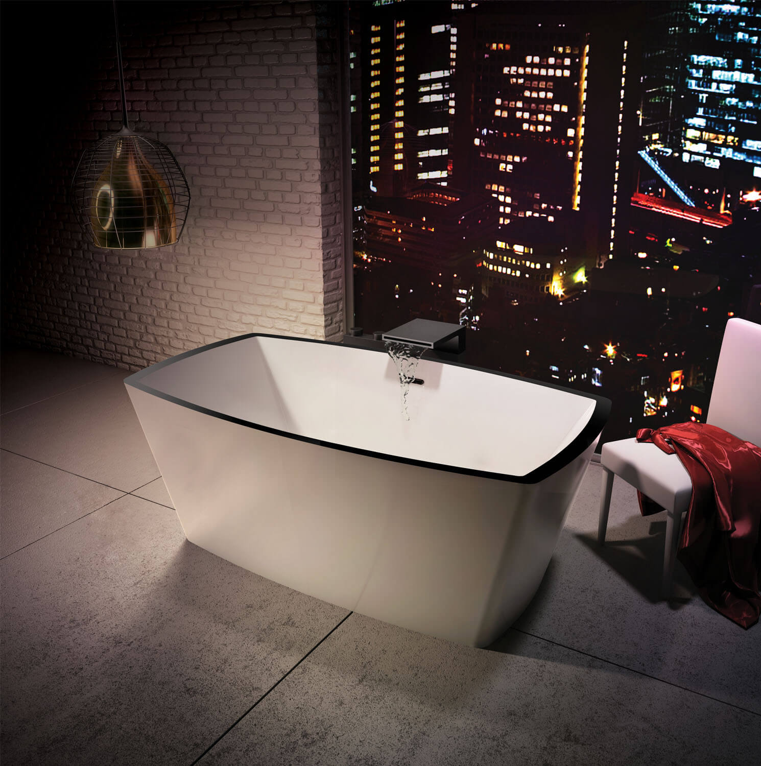 Bainultra Charism™ 6434 two person freestanding air jet bathtub for your modern bathroom