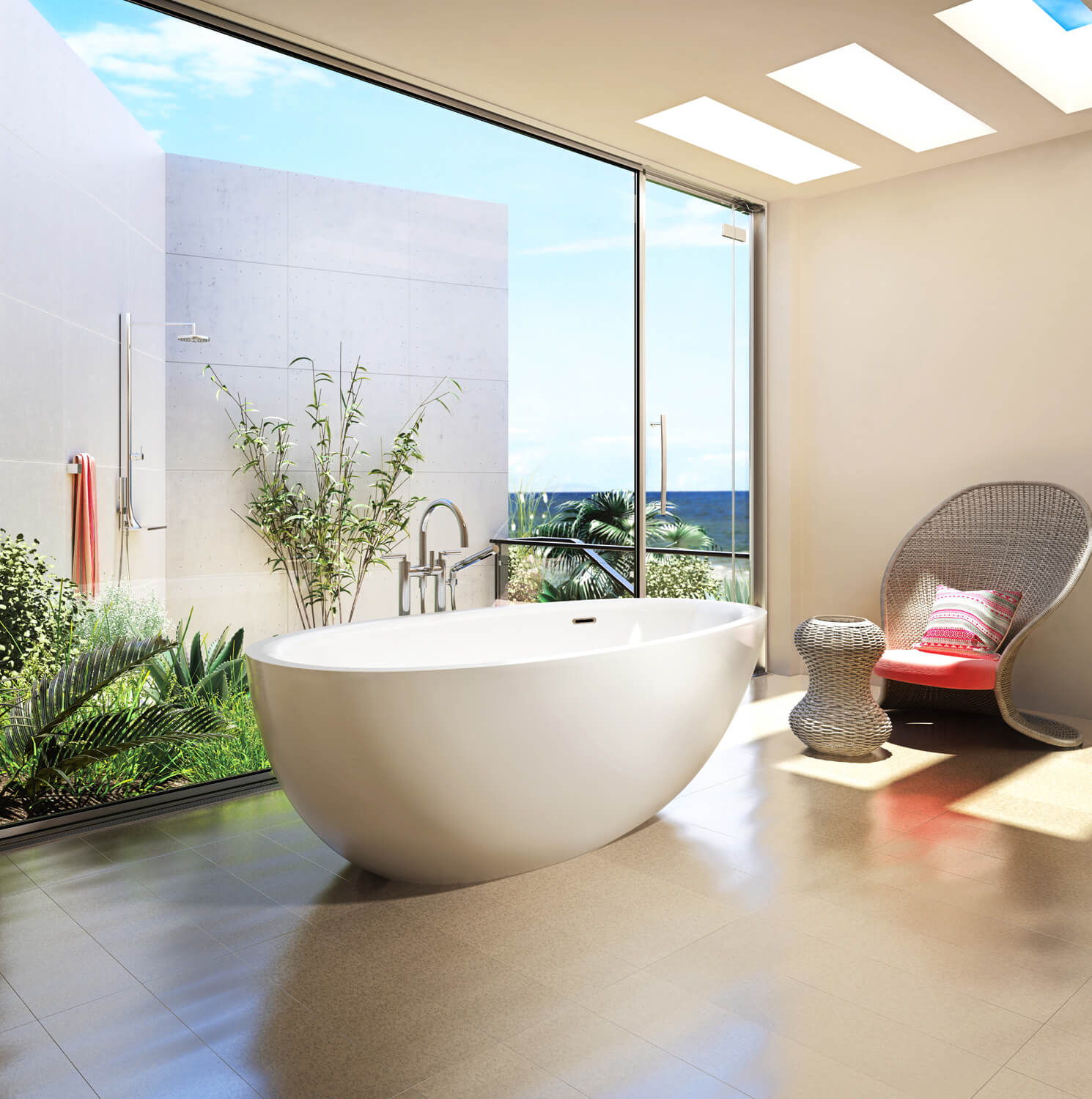 Freestanding air jet tub for your bathroom | BainUltra Essencia ...