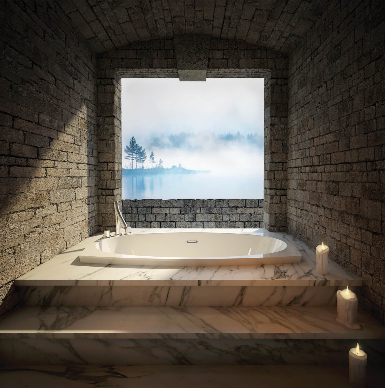 Freestanding air jet tub for your bathroom | BainUltra Esthesia™ 6638