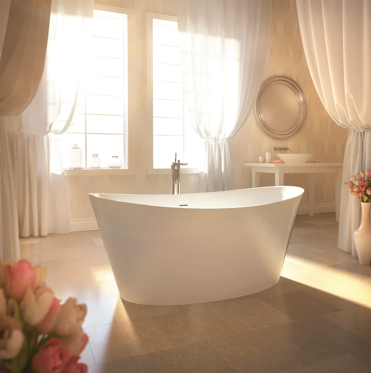 Bainultra Evanescence® 6636 Two Person Freestanding Air Jet Bathtub For  Your Modern Bathroom