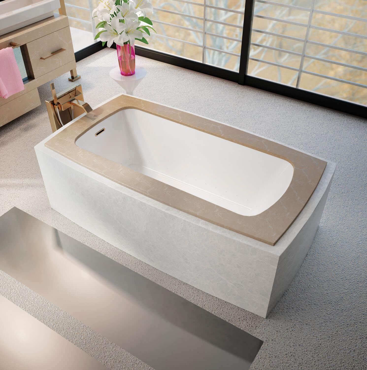 Monarch Grand Luxury 6233C air jet bathtub for your modern bathroom