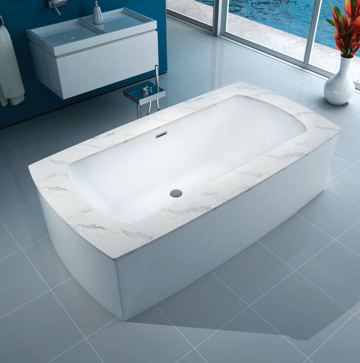 Monarch 7338C air jet bathtub for your modern bathroom