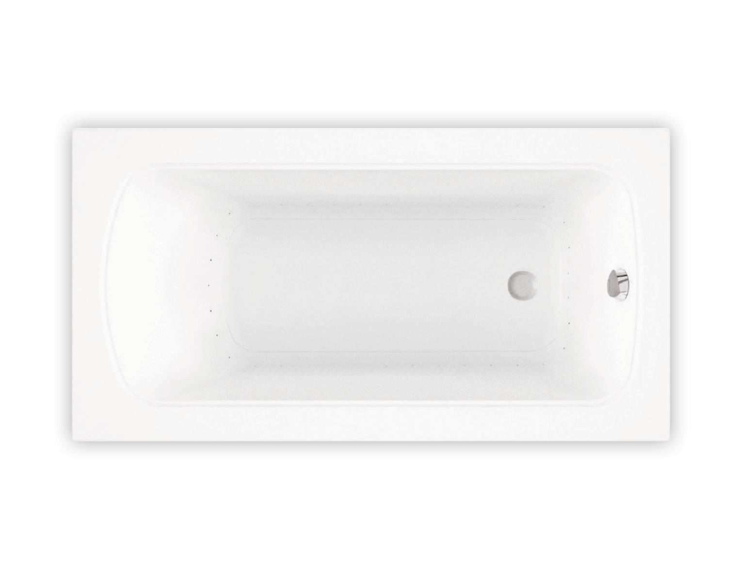 Bainultra Meridian® 6032 alcove drop-in air jet bathtub for your modern bathroom