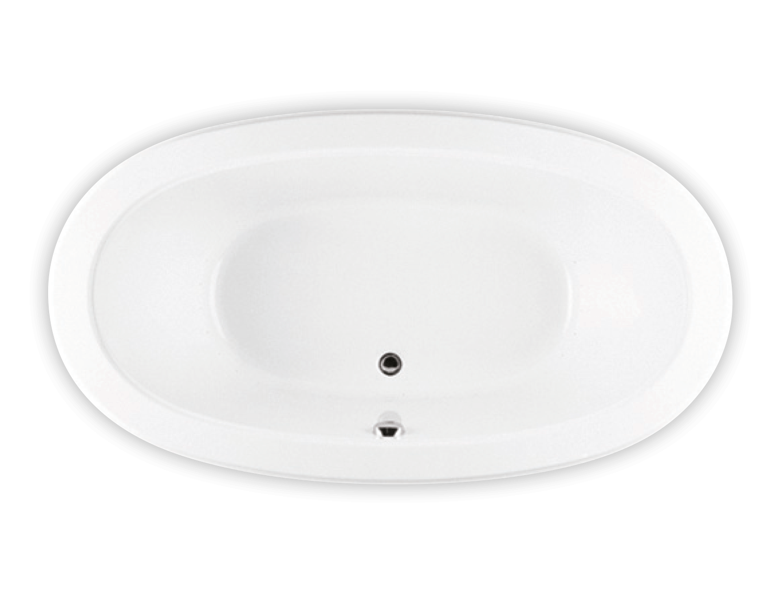 Bainultra Ellipse® 7240 two person large air jet bathtub for your modern bathroom