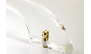 Clear acrylic grab bars