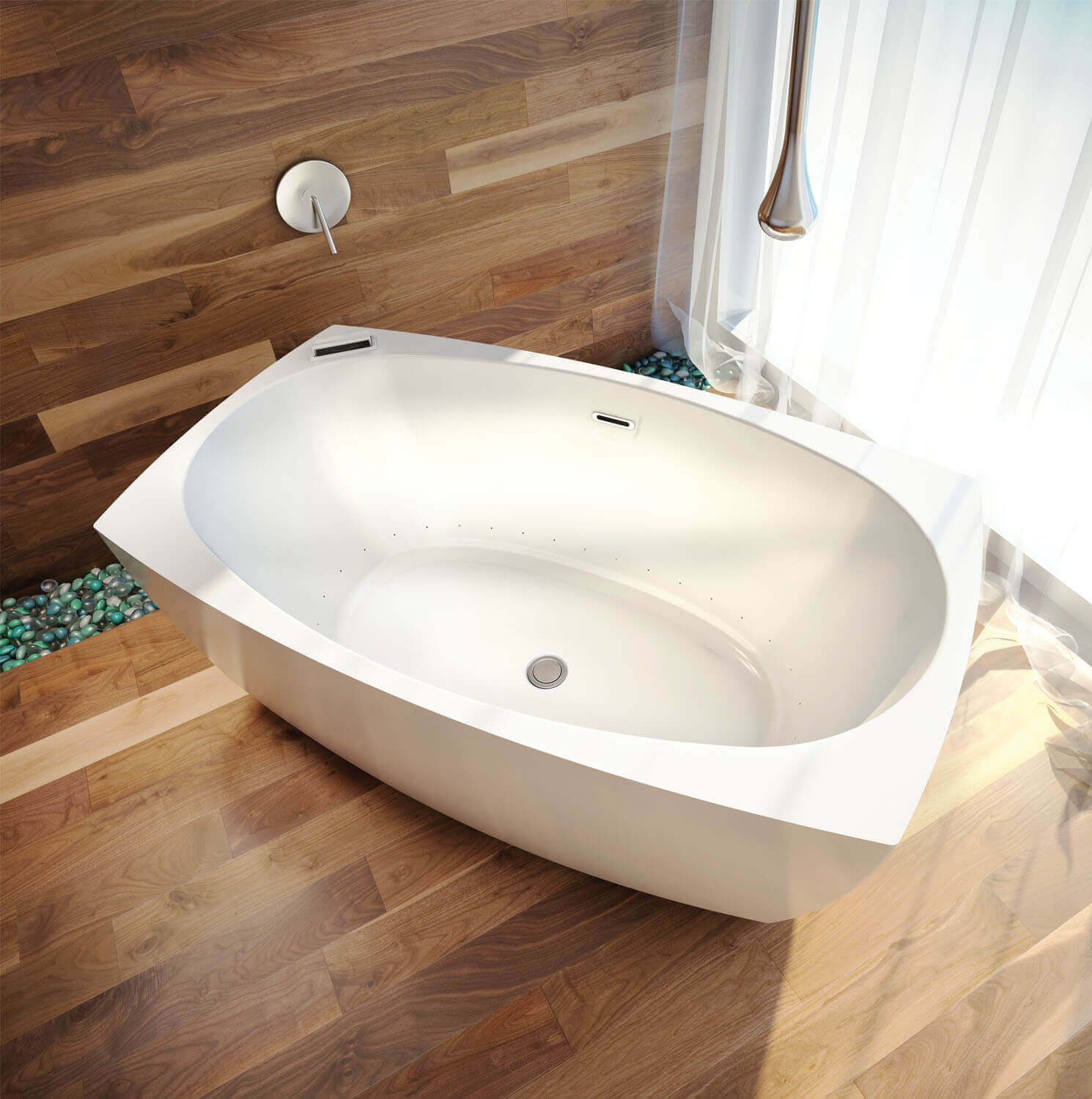 Bainultra Esthesia 6436 freestanding air jet bathtub for your master bathroom