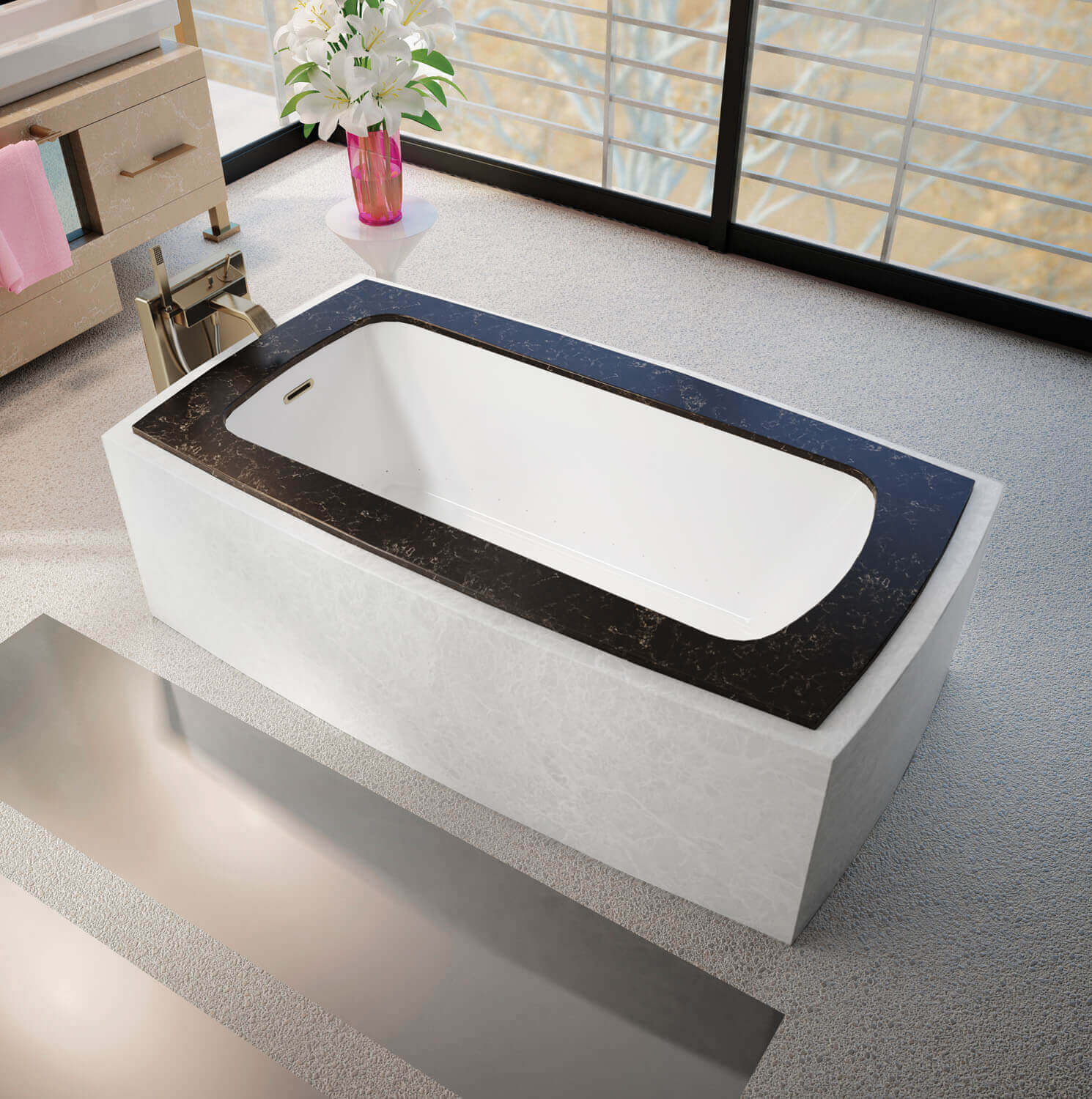 Monarch 6337C air jet bathtub for your modern bathroom