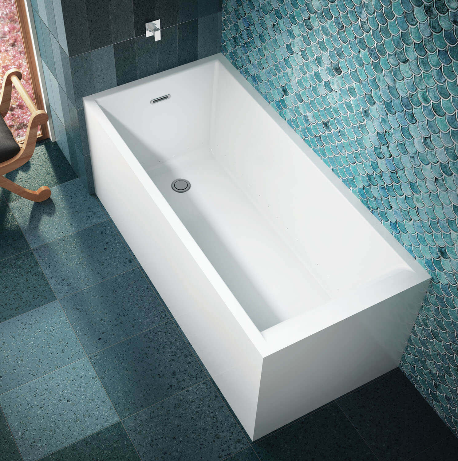 Bainultra Nokori™ 6331 freestanding air jet bathtub for your modern bathroom