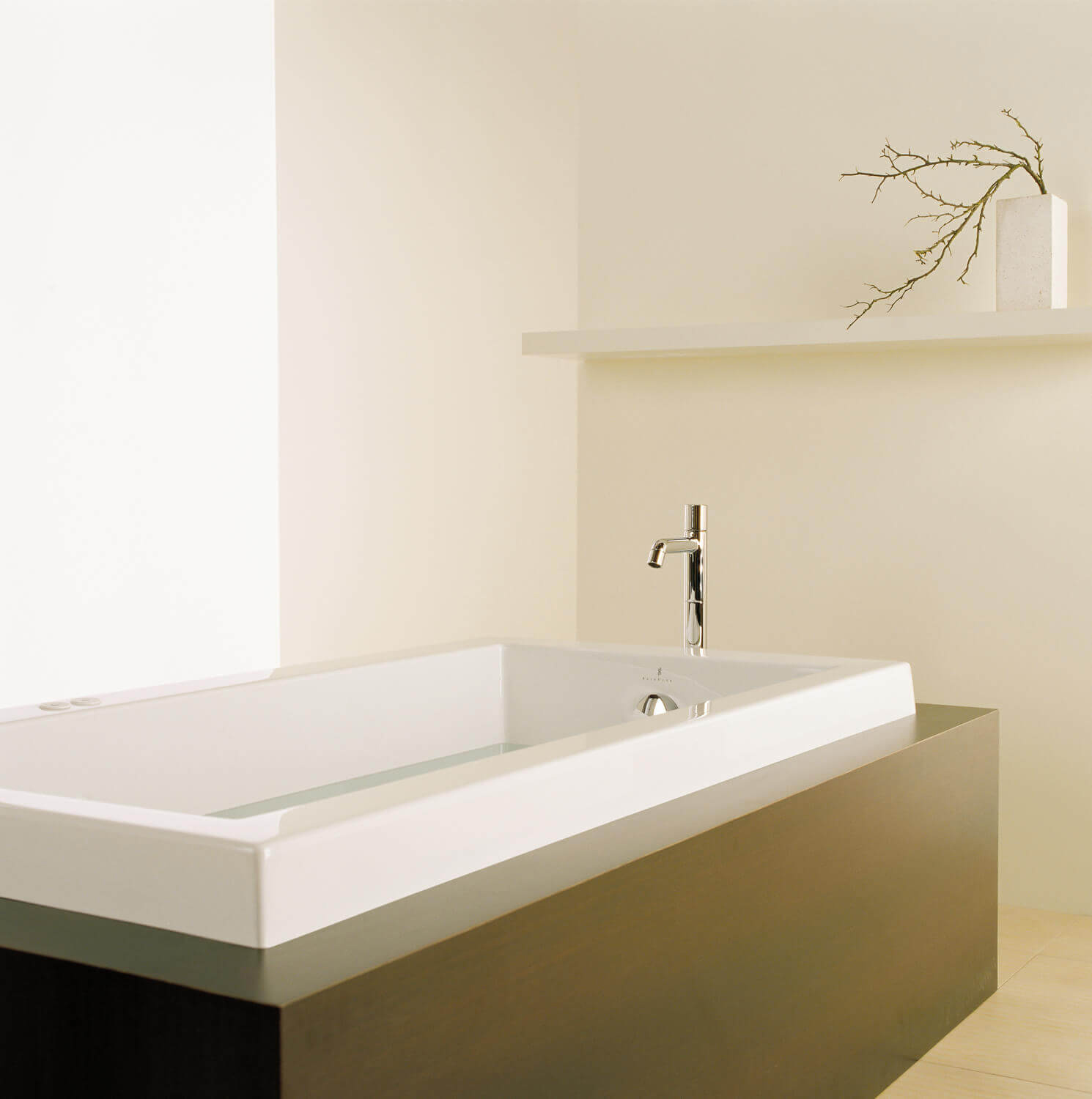 Bainultra Origami® 6632 Original Series alcove drop-in air jet bathtub for your modern bathroom