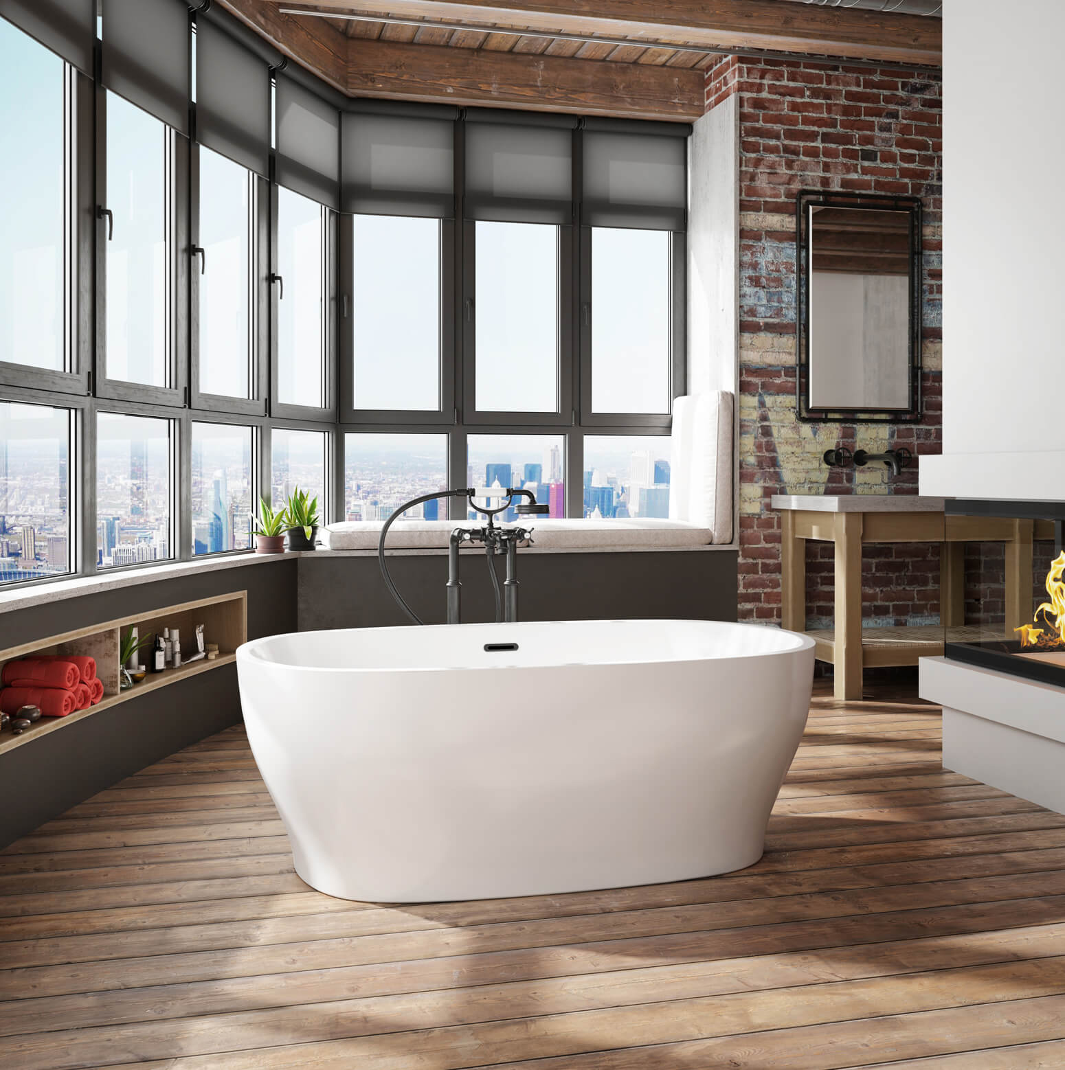 Bainultra Vibe Oval 5830 freestanding air jet bathtub for your modern bathroom
