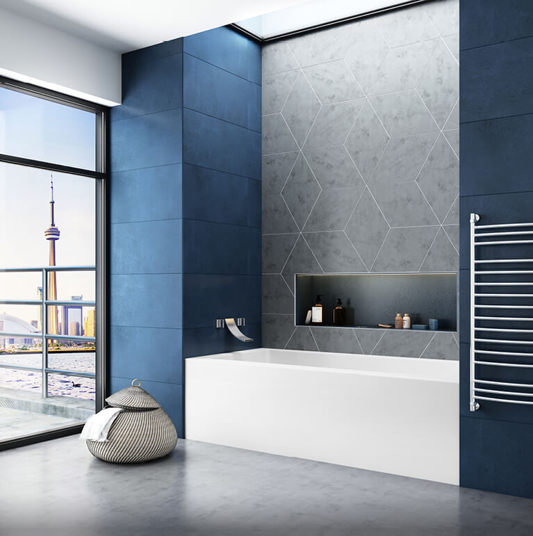 Bain de Ville alcove bathtub for your master bathroom