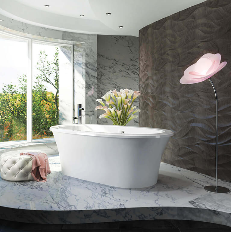 Bainultra Balneo® freestanding air jet bathtub for your modern bathroom