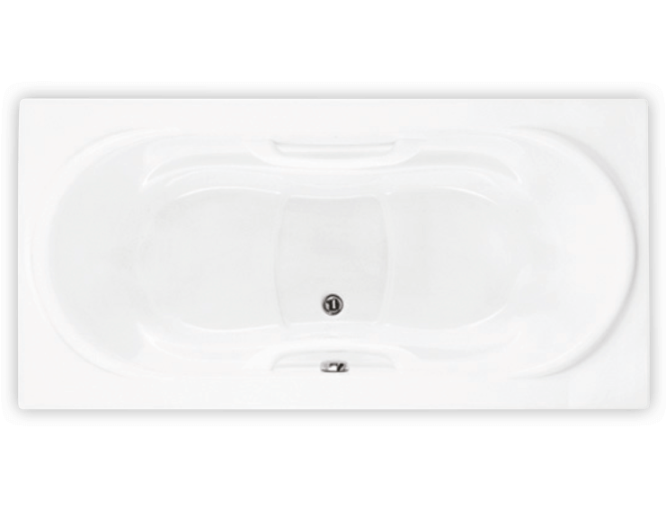 Bainultra Amma® 7236 alcove drop-in air jet bathtub for two