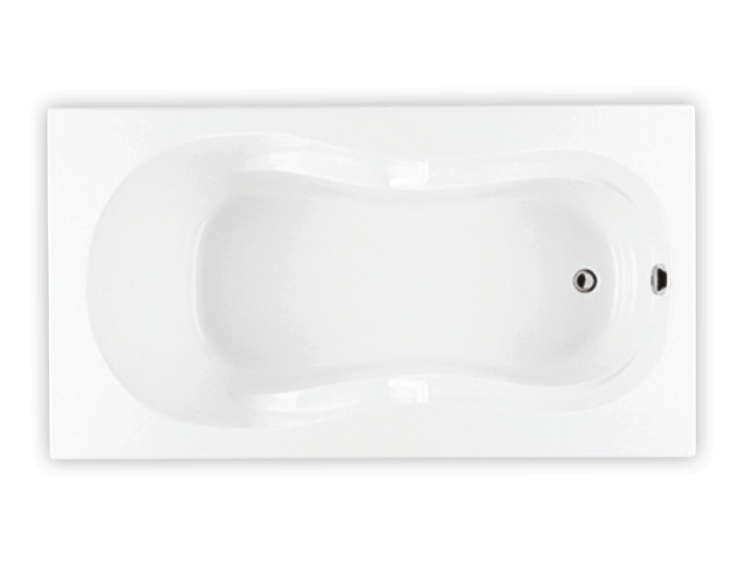 Bainultra Azur 50 collection alcove drop-in air jet bathtub for your modern bathroom