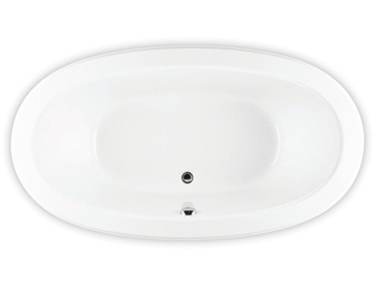 Bainultra Naos 6636 freestanding pedestal air jet bathtub for your modern bathroom