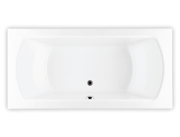 Bainultra Pro-Meridian 55 alcove drop-in air jet bathtub for your modern bathroom