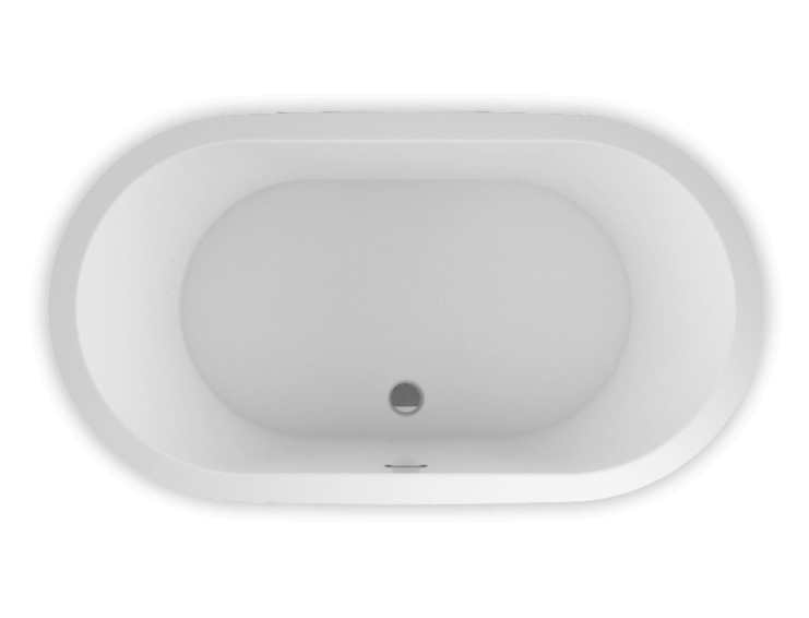 Bainultra Nokori™ Oval 6737 freestanding air jet bathtub for your modern bathroom