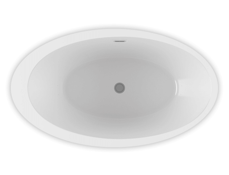 OPALIA 6839 Off Centered Ellipse Right air jet bathtub for your modern bathroom