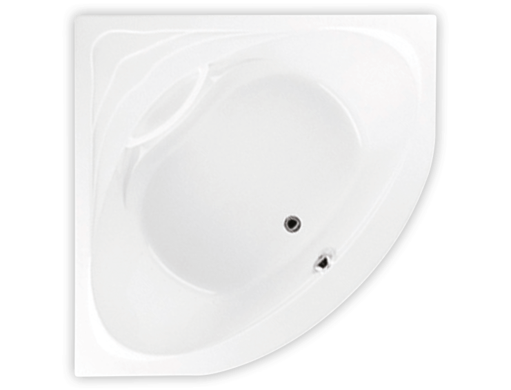 Bainultra Sensation corner drop-in air jet bathtub for your modern bathroom
